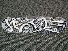 Sharpie Art Skateboard Deck by ~PinstripeChris on deviantART Sharpie Markers, Sharpie Art, Sharpie Projects, Pinstripe Art, Pinstriping, Skateboard Decks, Ancient Art, Graphic Design Inspiration, Surfboard