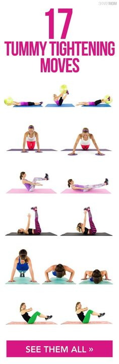 Tighten your tummy with these amazing exercises.