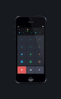 Drum App UI by Duncan Malashock | Creative User Interface Design