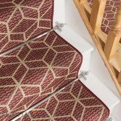 Modern Stair Runners   runrug Stair Rods, Modern Stairs, Modern Cottage, Carpet Stairs, Sisal, Carpet Runner, Basket Weaving, Cube, Stair Runners