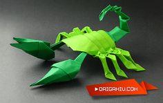 Scorpion paper origami - modular tutorial