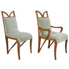A Set of Four Art Nouveau Carved Wood Dining Chairs   From a unique collection of antique and modern dining room chairs at http://www.1stdibs.com/furniture/seating/dining-room-chairs/