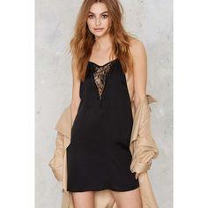 Just a Peek Satin Slip Dress ($58) ❤ liked on Polyvore featuring dresses, black, satin dress, maxi dress, slip dress, ruffle dress and wrap dress