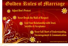 Golden Rules of Marriage!