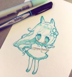 I tried same doodle style as yesterday's but a different colour scheme ;v; I kinda liked the pink one better~ #doodle #chibi #sketch #copic #sharpie #kawaii #cute #moe ----------- •please read tags before asking what I use c: •Artwork (c) yoaihime ~All Rights Reserved ♡ •Do not steal, trace, or reproduce/redraw my artwork~ ♡Thank you for all the kind comments, I may not always reply to every one but I always read and appreciate them ♡: