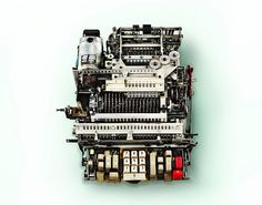 "Take the most mundane item you can think of and San Francisco-based photographer Kevin Twomey will turn it into something fascinating. In this series, Twomey removes the cover of these old adding machines to reveal the intricate layers of complex gears and springs. The artist says he, ""deli"