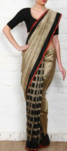 Black Banarasi Cutwork Georgette Silk Saree