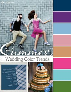 Gorgeous wedding colors for 2015. Look through trending wedding color palettes coming up this season, and find the best color schemes for your wedding.