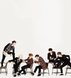 everyone copying KAI XD those are D.O, SUHO, LUHAN, CHANYEOL, CHEN♡ on IVY CLUB