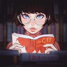 "kuvshinov-ilya: "" Books https://www.patreon.com/posts/3752872 Something little to unwind! """