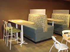 Specialty Lounge Seating and 9680 Bolster Back Bar Stool with 74PT Exchange Table and Bar Height 400 Series Table Base