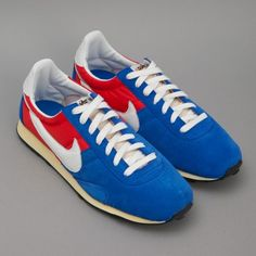 Nike: Pre Montreal Racer - Blue / White / Red   EVA midsole  Waffle sole  Neat fit  we recommend sizing up  Seems weve gone full-circle here, early OP shoppers will remember vintage Nike runners being a fixture, almost ten years in we