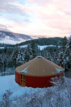gorgeous yurt in Alaska by our old house.