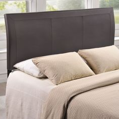 Modway Isabella Contemporary Faux Leather Queen-size Headboard (Isabella Queen Size Brown Headboard)