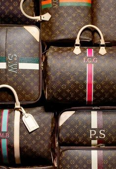 Bow Street: DIY Five Second Personalisation | Anya Hindmarch x Chaos Fashion 'Sticker Shop' | the dream...Louis Vuitton Monogram Luggage