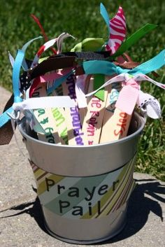 I love this idea to help children understand that every person you have put in the bucket is special to you and that you can find something to pray for about them. Plus it helps us remember to pray meanigful, specific prayers. Even adults need that reminder sometimes!