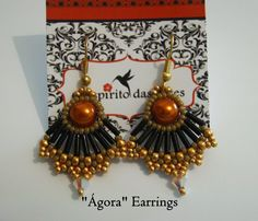 """Ágora"" Earrings (part 1 of the ""Ágora"" set tutorial)"