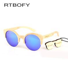 c8d23acf388e New fashion Sunglasses Women Glass Brand Designer Original Bamboo Sunglasses  au Retro Vintage Wood Lens Wooden