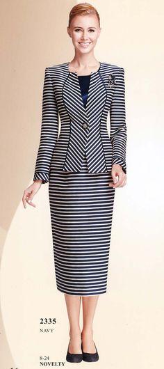 Womens Navy Suit Nina Massini 2335