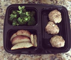 Back on the meal prep wagon. Fell off for a second there.  #MealPrepMondays #HealthyEating #HealthyLifestyle #IIFYM #MealPrep #GirlsWhoLift #FitFam #FitJourney #Meatballs #Broccoli #Potatoes