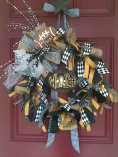 WHO DAT!!!...New Orleans Saints Burlap & Ribbon Wreath by SouthernFCreations, $70.00