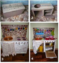 Chantalanta : Как сделать игрушечную плиту своими руками. Кухня из картона.