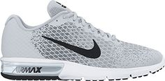 Womens Nike Air Max Sequent 2 Running Shoe Pure PlatinumBlackCool GreyWolf Grey Size 95 M US ** Read more reviews of the product by visiting the link on the image. (This is an affiliate link) #WomensRunningShoes