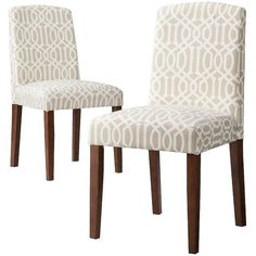 Threshold™ Marion Upholstered Dining Chair Lattice - Set of 2 - to go in breakfast nook - bought on clearance Furniture Design, Chair, Furniture, Dining Room Chairs, Home Furniture, Dining Chairs, Reupholster Furniture, Dining, Contemporary Dining Chairs