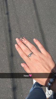 #nails #nude #black #ring #pandora #nudegirl