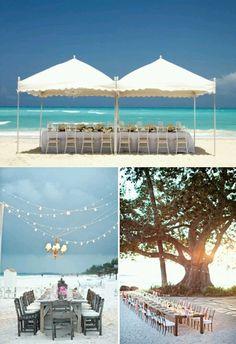 Antique but classy beachside wedding idea