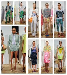 J. Crew Spring 2013....floral and herringbone and plaid....oh my!