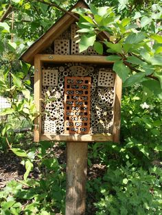 "Saw this at  Facebook Group ""Gruene Handarbeitsdaumen"" on Katrin Schulz's album. It is a Bug Hotel, made by her father."