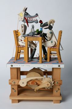 Newstead, Keith (born 1956): A wolf in sheep's clothing, automata, 49 cms high.