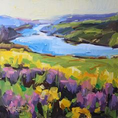 cathleen rehfeld • Daily Painting: Columbia Gorge Wildflowers