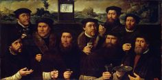 Author: Jacobsz, Dirck, circa 1497-1567  Title:  Group Portrait of the Amsterdam Shooting Corporation  Place: The Netherlands  Date: 1561  Material: panel  Technique:  oil  Dimensions:  91x184,5 cm ...
