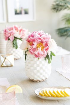 White Spring Flower Vases