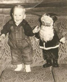 Vintage Christmas...This Santa looks just like the one my grandparents had and it used to scare me to death!  Those mean eyes!