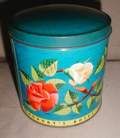 Vintage Cadbury Chocolate Tin, Roses from tomjudy on Ruby Lane