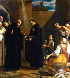 Giovanni Francesco Guerrieri, The Miracle of the Roses of Saint Nicholas of Tolentino, 1614
