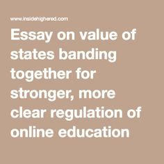 essay online learning