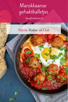 Moroccan meatballs - I Love Food & Wine - Recipe: Moroccan meatballs with ras el hanout. A spice mixture with twenty to fifty different herbs - Wine Recipes, Cooking Recipes, Healthy Recipes, Cooking Food, Moroccan Meatballs, Ras El Hanout, Goulash, Couscous, I Love Food