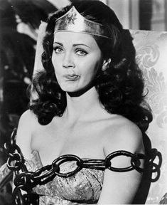 Linda Carter .. Wonder Woman  .. < comforting to know I'm not the only one that manages to nail the perfect photo expression ;)