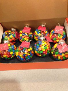 M&M Baubles   20 + DIY Christmas Gifts for Teachers From Kids