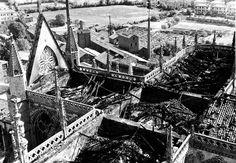 León, fotos antiguas, el incendio de la catedral