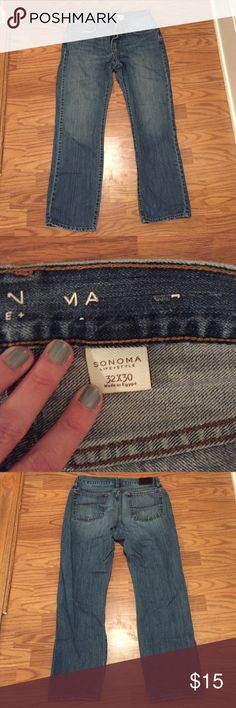 Men's jeans Sonoma men's jeans, worn but in good condition Sonoma Jeans Straight