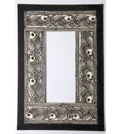 Mirror Frame Handpainted Fish Madhubani Painting
