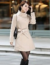 Taichang ™ Mujeres Slim gabardina
