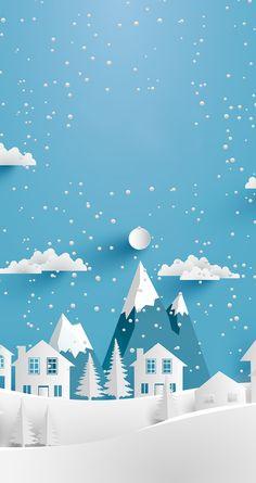 Minimal Wallpaper, Pop Art Wallpaper, Winter Wallpaper, Iphone Wallpaper, Wallpaper Backgrounds, Christmas Scenes, Christmas Art, Christmas Poster, Winter Illustration