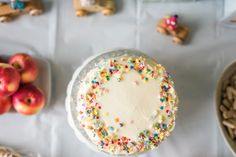Alphabet Sprinkles for the win!  #abcparty #alphabetparty #alphabetcity #partytheme #partyideas #kidsparty #partyideasforkids #marispikerstyling #partystyling #birthdaycake #party #birthday #cutebirthdaycake #simplepartycakes #kidspartycake #4yroldbirthday #birthdayideas