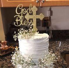 pasteles para bautizo de niño con flores naturales